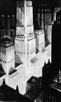 Hugh Ferriss | The Metropolis of Tomorrow