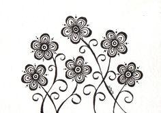 Wayside Black and White Original 3.5x5. $12.00, via Etsy.