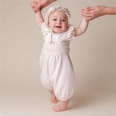 Newborn Girl Jumpsuit - Natalie Christening & Baptism Collection