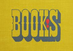 silkscreened bookcover design, from the 1962 book, Books! by Murray McCain and illustrated & designed by John Alcor