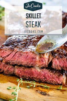 How To Reheat Steak, How To Cook Steak, Rare Steak, Juicy Steak, Steak Recipes, Chicken Recipes, Cooking Recipes, Skillet Recipes, What's Cooking