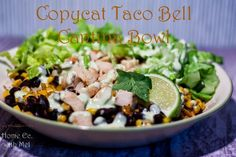 Home Ec. with Mel: Copycat Taco Bell Cantina Bowl - Gluten Free