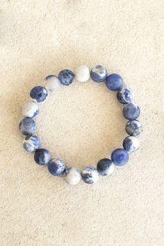 Stonewashed Beaded Bracelet Ocean
