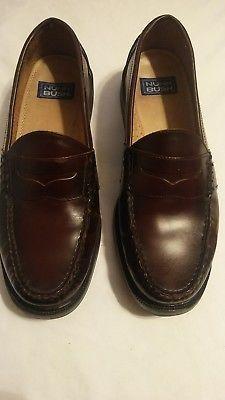 mens dress shoes loafers burgundy sz 11M slip on