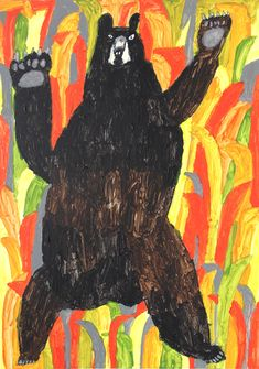 Artwork by Miroco Machiko. Bear Illustration, Art Graphique, Japanese Artists, Illustrations And Posters, Art Design, Animal Paintings, Figurative Art, Art Inspo, Painting & Drawing