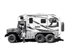 Planbsupply.com custom designed 6x6 adventure expedition offroad Motorhome. Lance flatbed Rv box mounted to military truck chassis for super capable and extremely affordable rig (around $80k finished) Sweet Bugout survival zombie apocalypse vehicle.