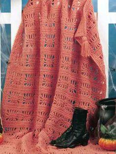 Seasonal Crochet - Fall Crochet Patterns - Spider Web Free Crochet Afghan Pattern