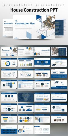 This 'House Construction PPT' is a PowerPoint template designed for presentations covering topics related to construction plans. Simple Powerpoint Templates, Powerpoint Design Templates, Page Layout Design, Ppt Design, Business Presentation Templates, Presentation Layout, Graphic Design Brochure, Graphic Design Tips, Corporate Website Design