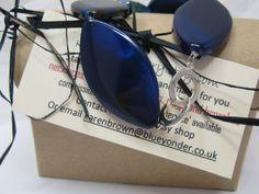Beadwork Bracelet Blue Agate Bracelet Gemstone by KBrownJewellery, £27.00