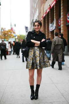 "from The Sartorialist: ""I think a great item skirt is about the easiest and most impactful piece of clothing that most young women could easily make for themselves."""