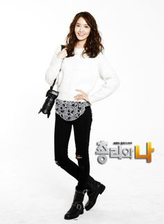 Yoona : Prime Minister and I Yoona Snsd, Asian Actors, Girls Generation, School Outfits, Autumn Fashion, That Look, Ruffle Blouse, Street Style, Chic