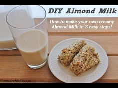 How to Make Home Made Almond Milk - Consider Me Fit - PIN and FOLLOW!  http://www.considermefit.com/articles/DYI_Almond_Milk_How_to_Make_Your_Own_Almond_Milk_in_3_Easy_Steps
