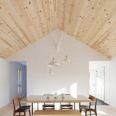 MAISON UNIFAMILIALE SAINT-SAUVEUR — DKA Architectes Decor Interior Design, Interior Design Living Room, Room Interior, African Art For Sale, Saint Sauveur, Forest House, Farm House, Living Room Kitchen, Home Decor Bedroom