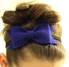 Navy Blue Bow Headband