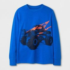 Cat & Jack Boys' Truck Graphic T-Shirt Blue