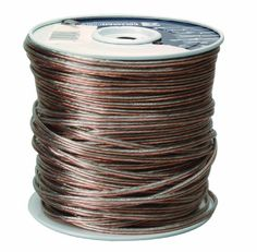 Coleman Cable Clear Speaker Wire - Pack of 500 Roofing Tools, Roofing Supplies, Home Theater Sound System, Home Theatre Sound, Wire Spool, Hi Fi System, Electrical Tools, Speaker Wire, Cable Wire