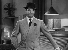 Cary Grant in His Girl Friday (1940).