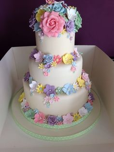 Pretty pastels wedding cake