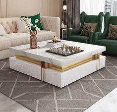 Mirrored Bedroom Furniture, Master Bedroom Interior, Bedroom Furniture Design, Centre Table Living Room, Table Decor Living Room, Center Table, Sofa Table Design, Corner Sofa Design, Home Room Design