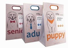 These Dog Food Packs Are Designed for Pups of Three Different Ages #pets #petfood trendhunter.com