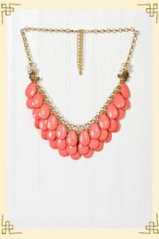 Teardrop Necklace in Coral  a little larger than I usually wear, but love love love the color.