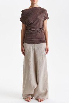 NEW / Asymmetrical Short Sleeved Top/ Arya Off by AryaSense