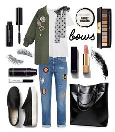 """""""Bows fashion▪️&▫️"""" by szemesicsenge ❤ liked on Polyvore featuring STELLA McCARTNEY, RED Valentino, WithChic, Chanel, Kre-at Beauty, Bobbi Brown Cosmetics, Yves Saint Laurent, bows, blackandwhite and MyStyle"""