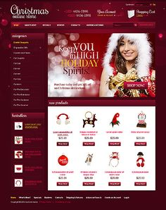 HoHoHo... Holiday shopping? Get Christmas Template Espresso! That's OsCommerce #template // Regular price: $140 // Unique price: $2500 // Sources available: .PSD, .PHP, (Currently supports only English version) #OsCommerce #Shop #Store #Christmas #SantaClaus #Toys #Decoration