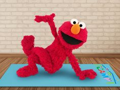 Elmo, Twitter, Work On Yourself, Dinosaur Stuffed Animal, Yoga, Shit Happens, Animals, Inhale Exhale, When I See You