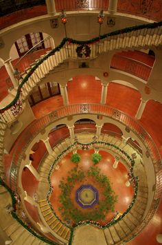 "Officially known as the ""International Rotunda"", the spiral staircase at the historic Mission Inn in Riverside, California is one of the most admired pieces of architecture there. More"