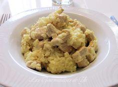 Émincés de dinde au curry avec son riz au lait de coco Sushi, Paella, Risotto, Potato Salad, Cauliflower, Potatoes, Vegetables, Ethnic Recipes, Food