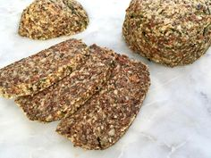 Raw Zucchini Bread - sliced