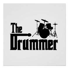 Shop The Drummer Poster created by oldrockerdude. Design Poster, Logo Design, Drummer Quotes, Drums Logo, Cool Illusions, Custom Posters, Musical, Custom Framing, Favorite Quotes