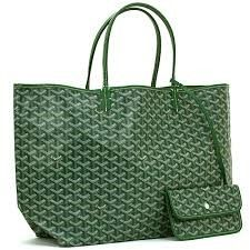 $1650 Brand New Goyard Handbag St Louis GM Cabas Reversible Toile Verte/ Cuir Handbag Very Good | Buya #maxpawn  Max Pawn of Las Vegas 702-253-7296 www.bagpawn.com