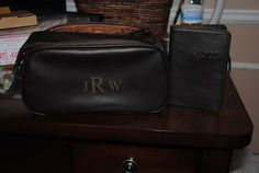 groomsmen gift - love the idea of a nice, leather, monogrammed travel carrier