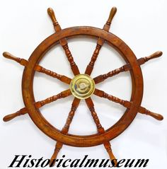 """Including the handles. It has a brass center hub. Nautical, Maritime and Survey instruments, tools & decorations. Diameter : 36"""". Movie Replicas. Customized Armour. Pirate Stuffs. Steam Punk, Retro & victorian. 
