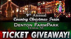 winners chosen for tickets to the annual country christmas train at denton farmpark - Christmas Train Denton Nc
