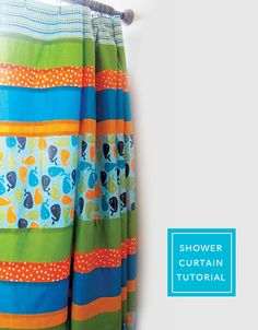 LOVE these curtains. need to think about making my own. Shower Curtain Tutorial from Kelby Sews for Anne Kelle
