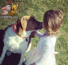 Beagle love and kisses on Easter Sunday.