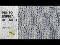 Tutorial Punto Espiga de Trigo Crochet o Ganchillo