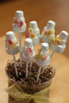 Cake Pop Wedding Cakes by Sweet Lauren Cakes, via Flickr