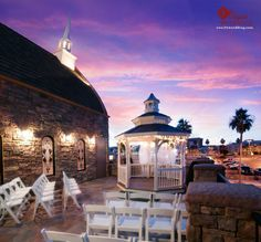 The Terrace Venue at Vegas Weddings is a lovely outside venue that seats up to 40 guests and has a beautiful gazebo for a ceremony. http://www.702wedding.com/las-vegas-wedding-chapels.asp
