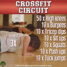 #Crossfit circuit. Find more great workouts at www.healthsupplementwholesalers.com