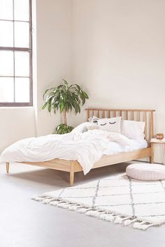 Shop Multi Slatted Bed at Urban Outfitters today. We carry all the latest styles, colours and brands for you to choose from right here. Urban Outfitters, Dresser Bed, Dressers, Minimalist Bed, Oak Beds, Bed Slats, Girls Bedroom, Bedroom Ideas, Bedrooms