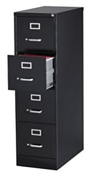 Office Dimensions Commercial 4 Drawer Letter Width Vertical File Cabinet Best Daybeds, 4 Drawer File Cabinet, Top Computer, Hanging File Folders, Cabinet Dimensions, Daybed With Trundle, Hanging Files, File Organization, Hanging Organizer