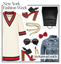 """""""#MyRunwayLookIs"""" by hellodollface ❤ liked on Polyvore featuring Gucci, Aéropostale, Michael Kors, CHARLES & KEITH, Cartier, Chanel and MyRunwayLookIs"""