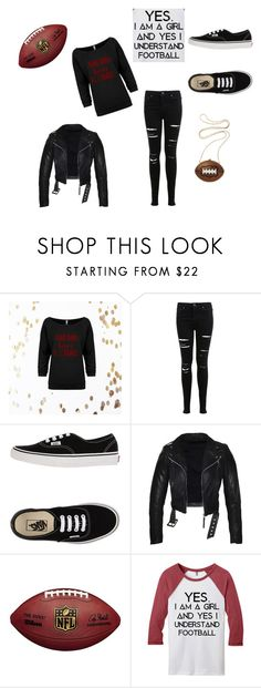 """""""My love for football"""" by ahaley-i on Polyvore featuring Miss Selfridge and Vans"""