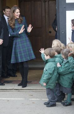the-british-royal-family:    The Duchess of Cambridge during a visit to her old preparatory school, St Andrew's School in Pangbourne, Berkshire.