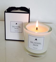 Coconut & Lime 100% Natural Soy Candle www.balmoralstyle.com