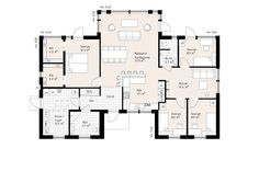 Good family home layout Dream House Plans, House Floor Plans, Villa Design, House Design, Energy Efficient Homes, New Home Designs, House Layouts, Next At Home, Planer